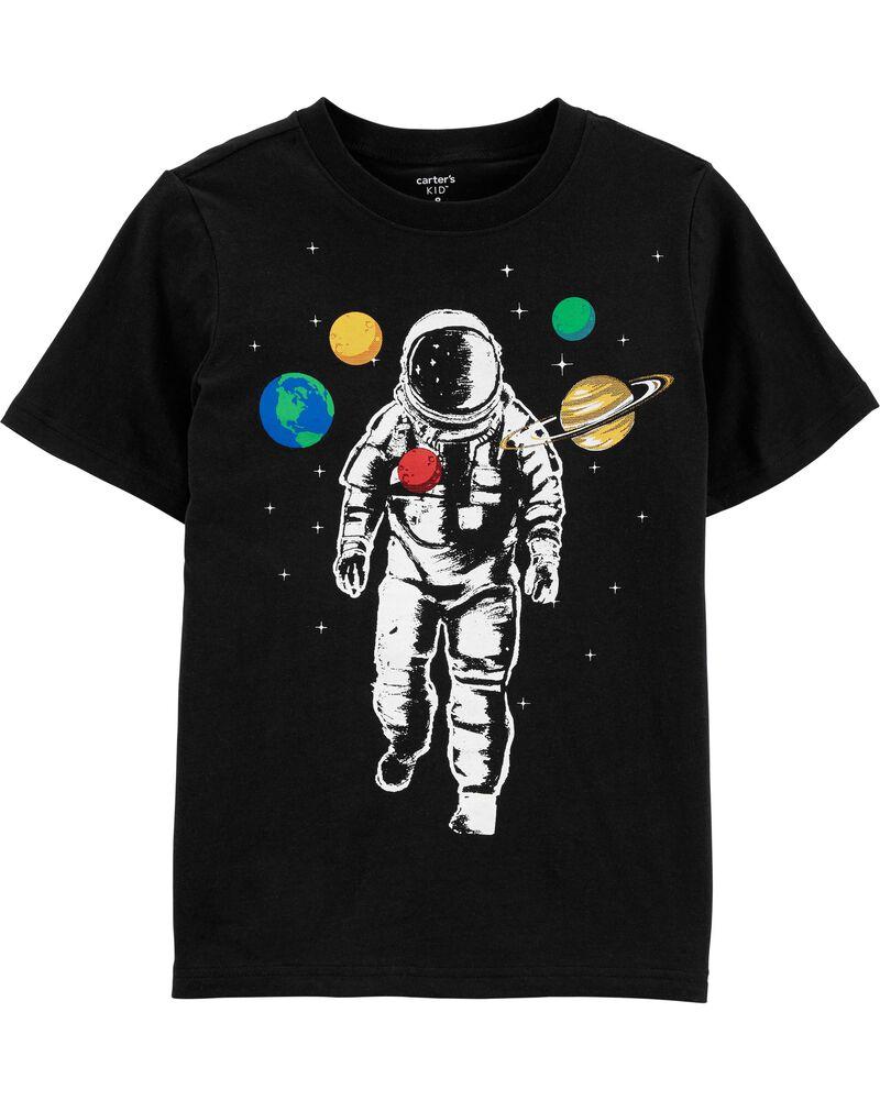 100/% Cotton Knit Toddler Astronauts Short Sleeve Tshirt /& Leggings Set