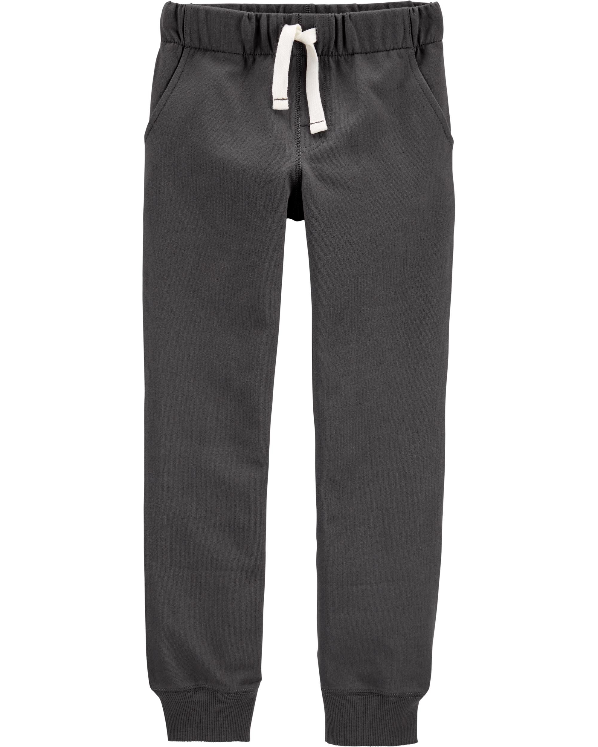 Carter/'s Infant Boys/' Pull-On Gray Knit Joggers Ankle Stripes NWT sweat pants