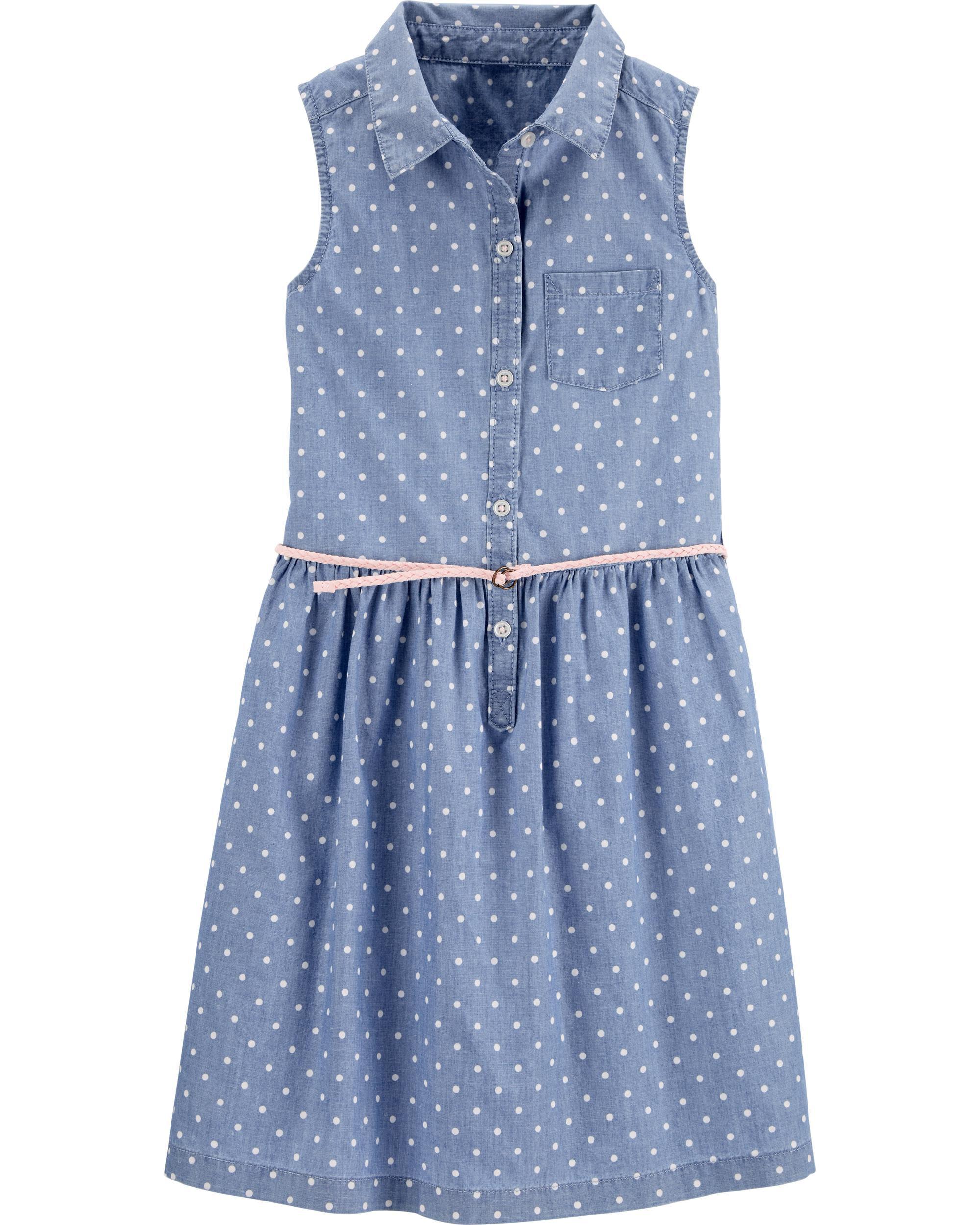 *CLEARANCE* Chambray Shirt Dress