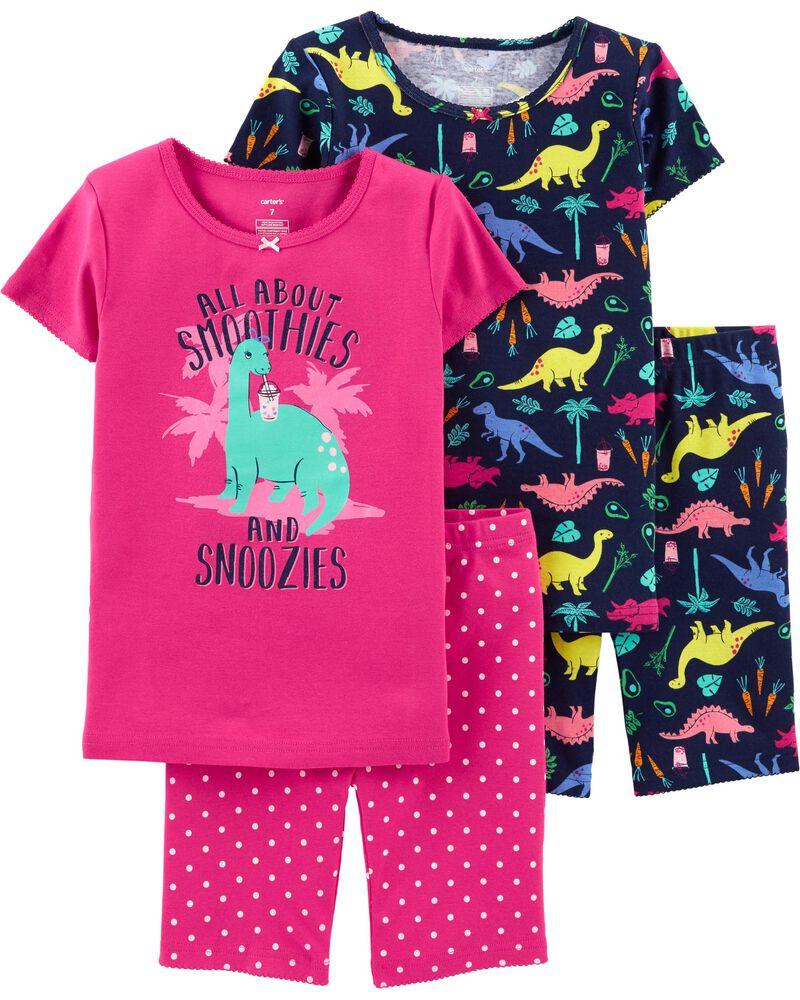 Carters 4-Piece Dinosaur Snug Fit Cotton PJs