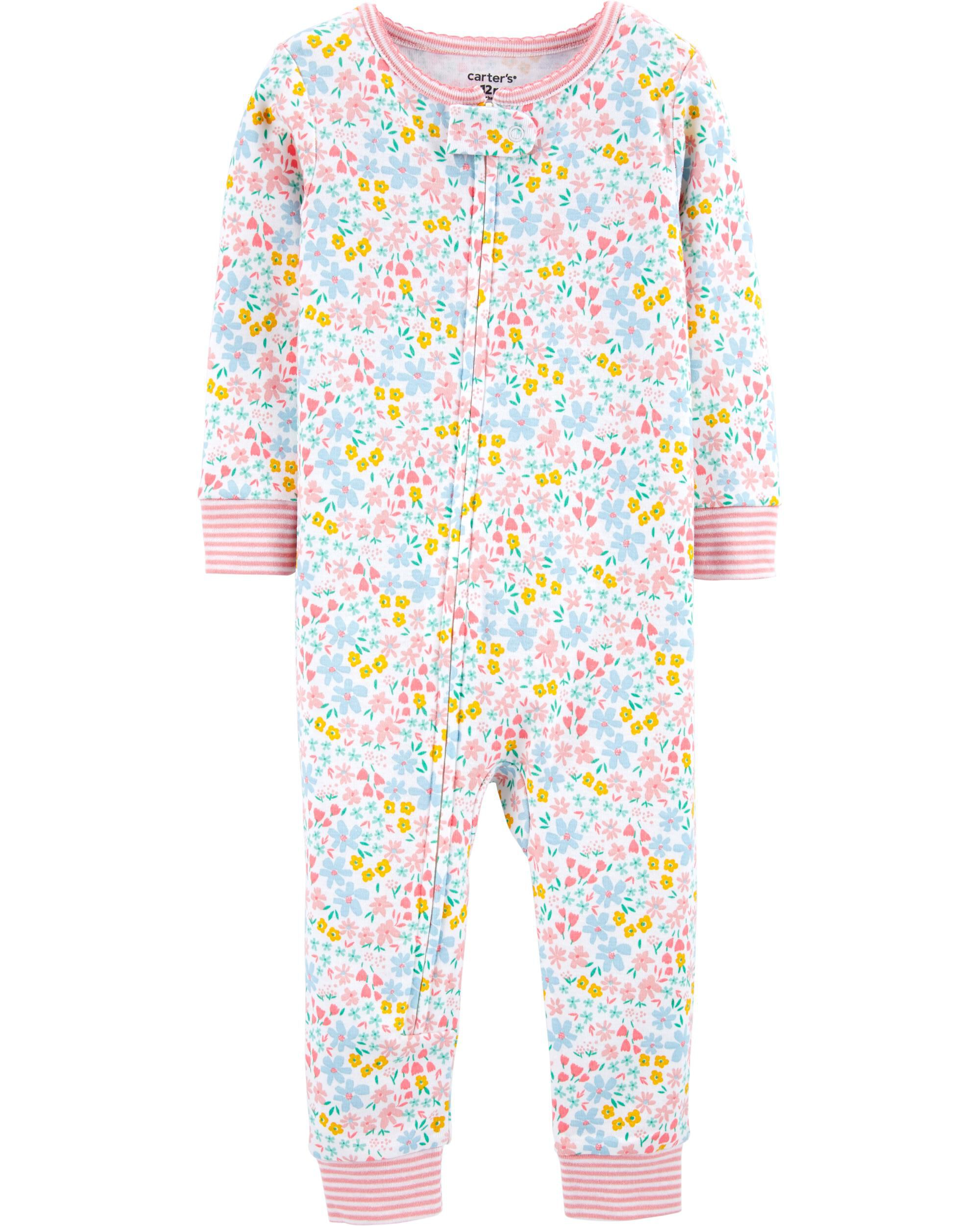 1-Piece 100% Snug Fit Cotton Footless PJs