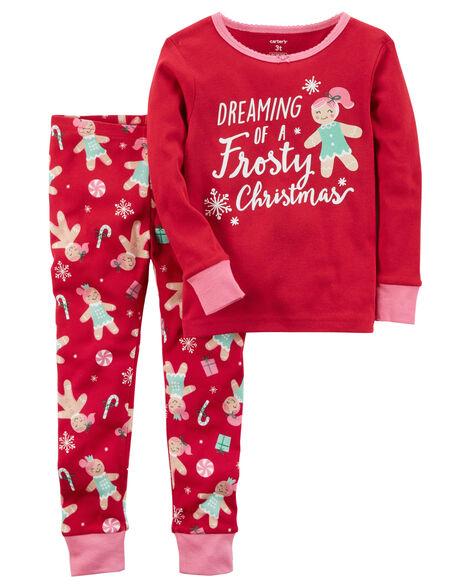 4d5b9502ba 2-Piece Christmas Snug Fit Cotton PJs