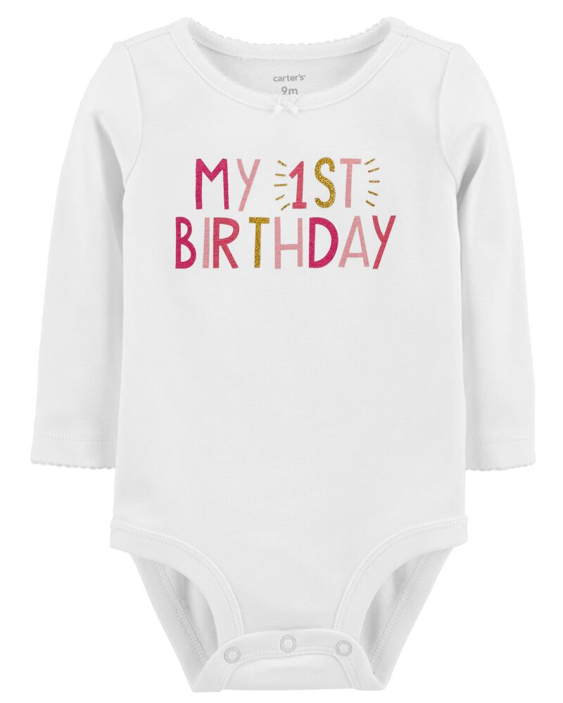 Baby Birthday Bodysuit 1 Year Old Bodysuit One Year Baby Bodysuit Birthday Bodysuit Month to Month Bodysuit Set