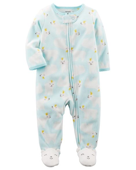 0876f3301 Polar Bear Zip-Up Fleece Sleep   Play