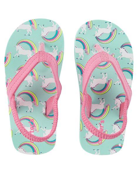 959433813 Baby Girl Carter s Rainbow Flip Flops