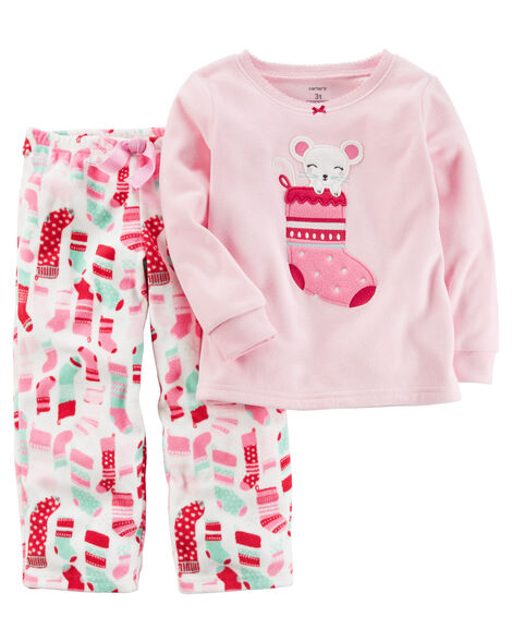 51cb37de6460 2-Piece Christmas Fleece PJs
