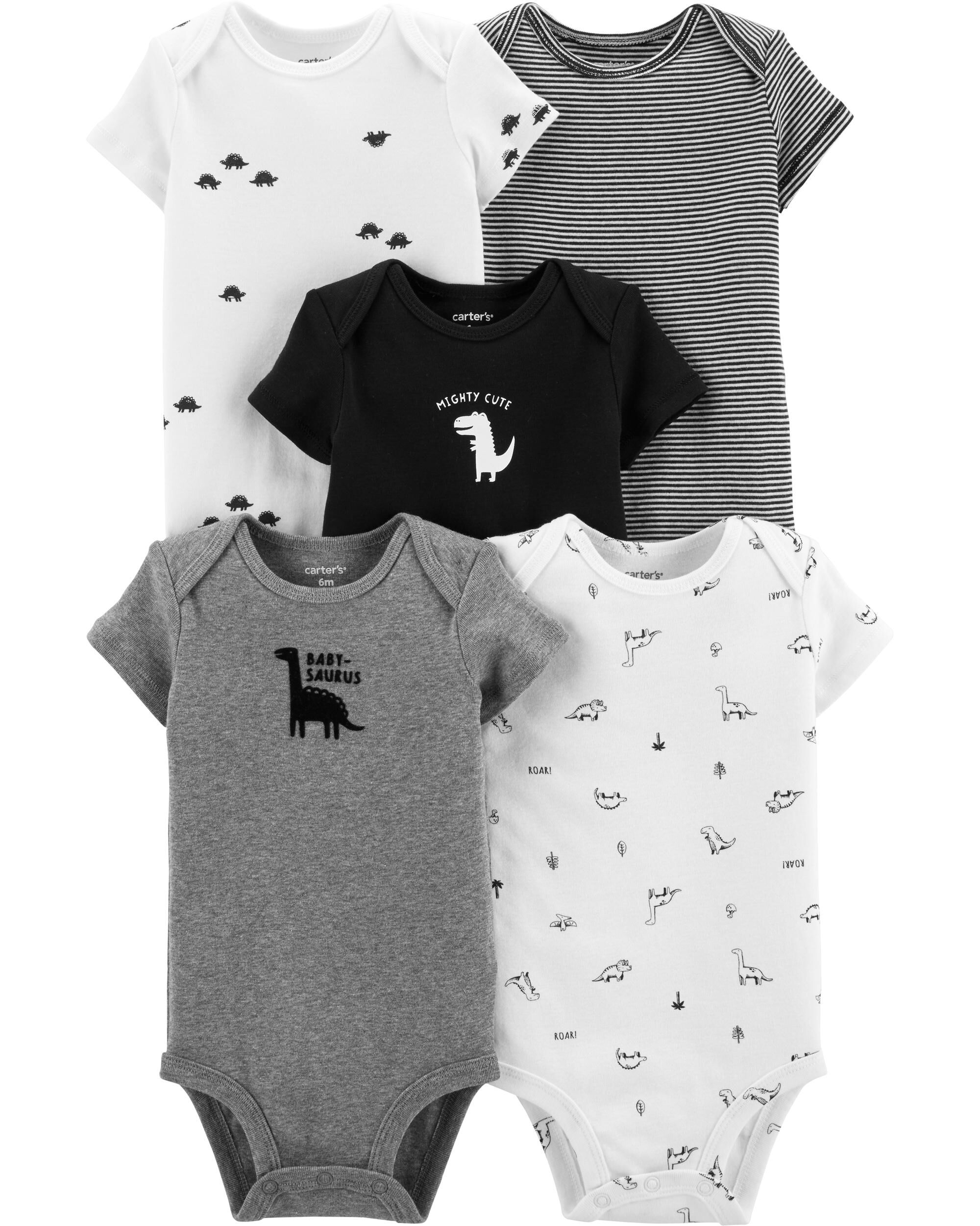 *CLEARANCE* 5-Pack Dinosaur Original Bodysuits