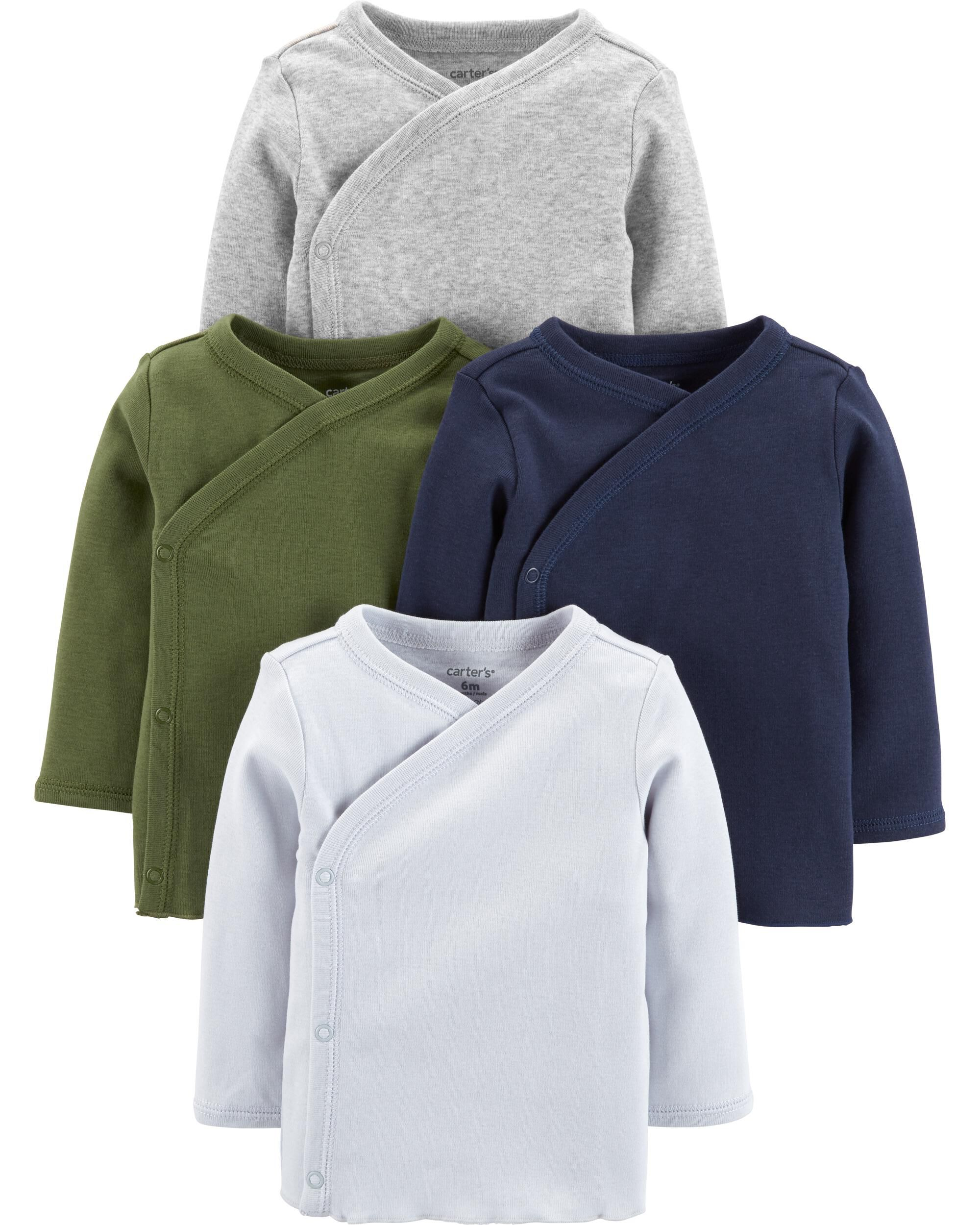 *CLEARANCE* 4-Pack Side-Snap Tees