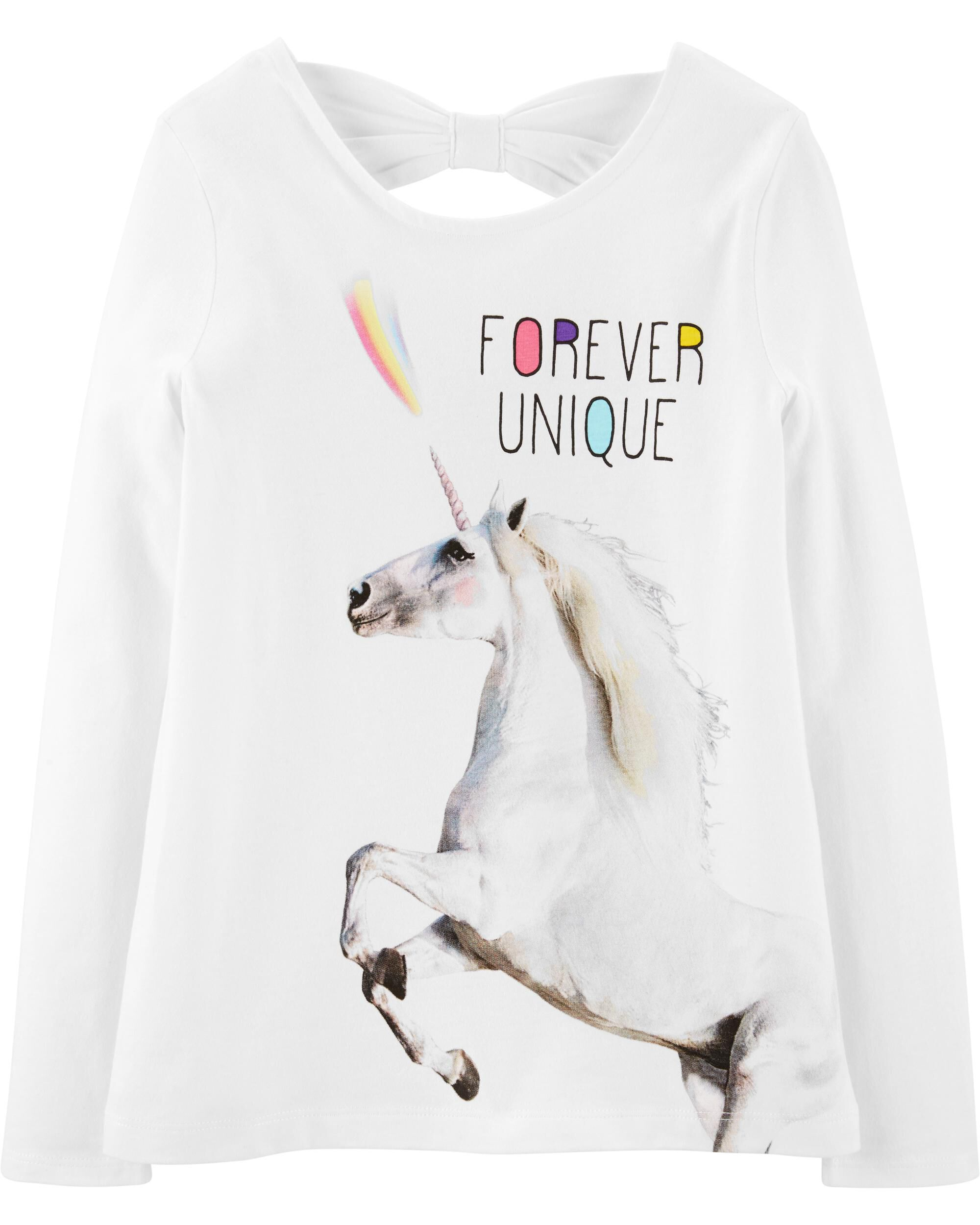 *CLEARANCE* Unicorn Bow Back Jersey Tee