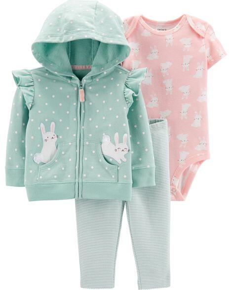 385e2d807 3-Piece Bunny Little Jacket Set | Carters.com