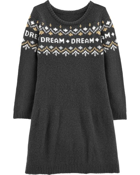 Glitter Dream Sweater Dress
