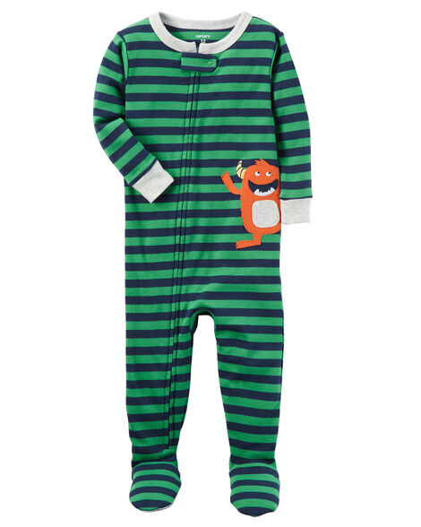 9ff8dcc25 1-Piece Monster Snug Fit Cotton PJs