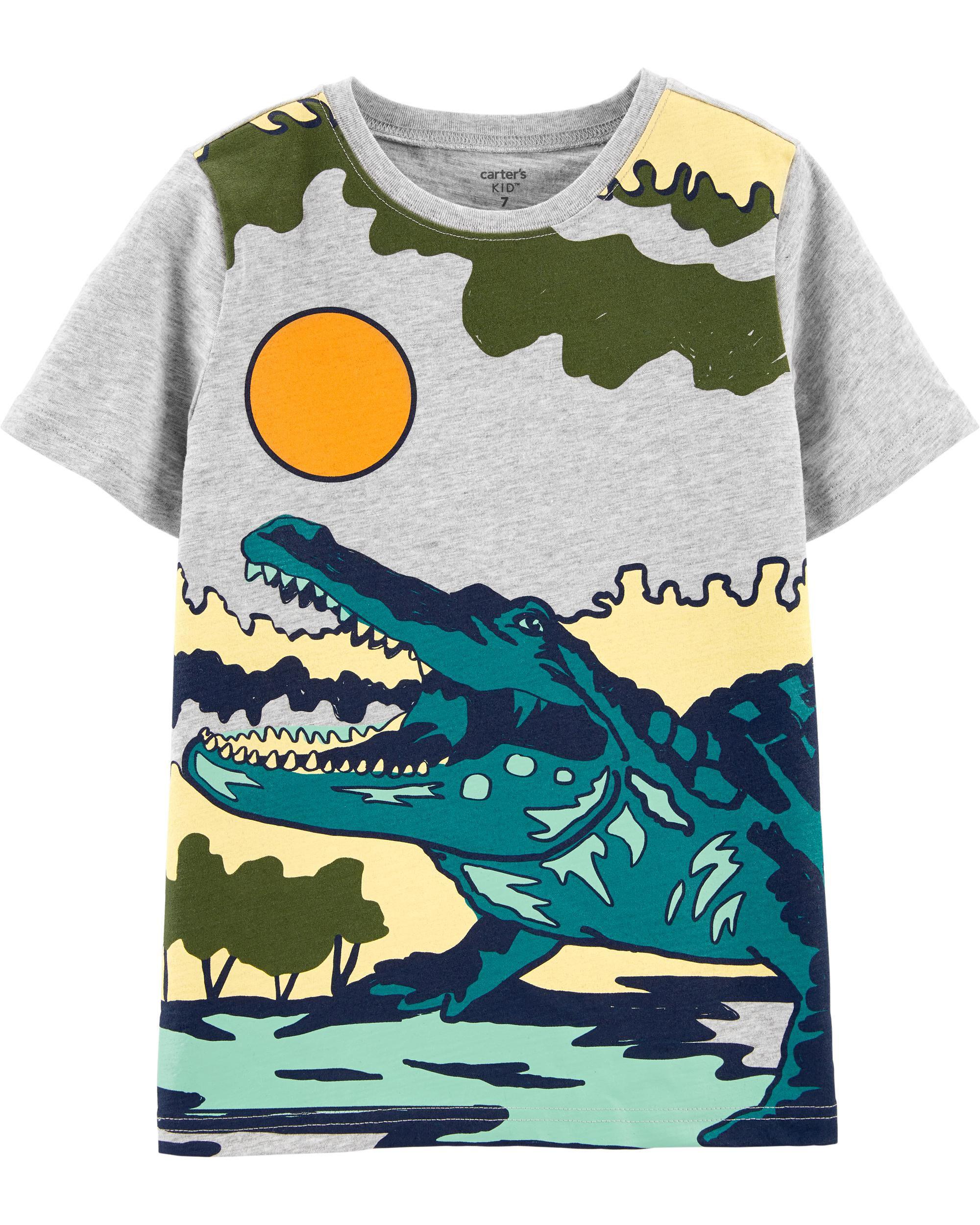 *CLEARANCE* Alligator Slub Jersey Tee