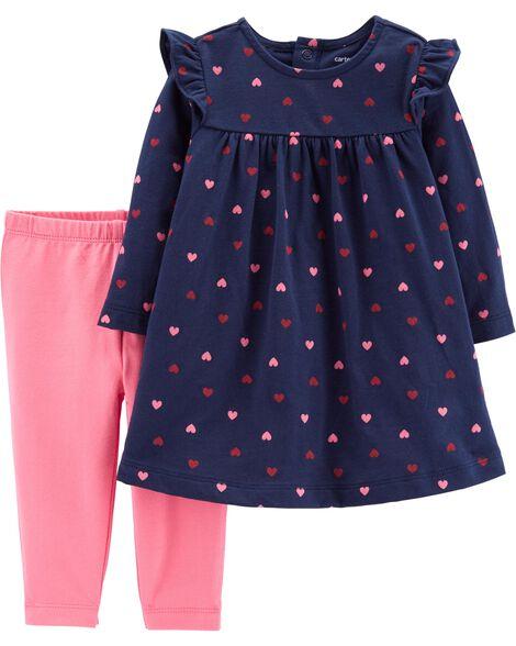 071c5bec0 2-Piece Heart Dress   Legging Set