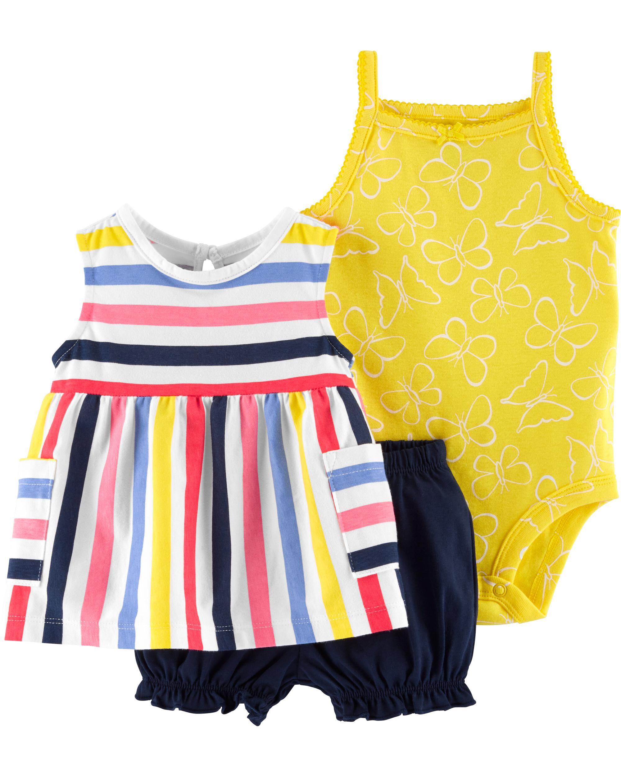 *DOORBUSTER* 3-Piece Striped Little Short Set