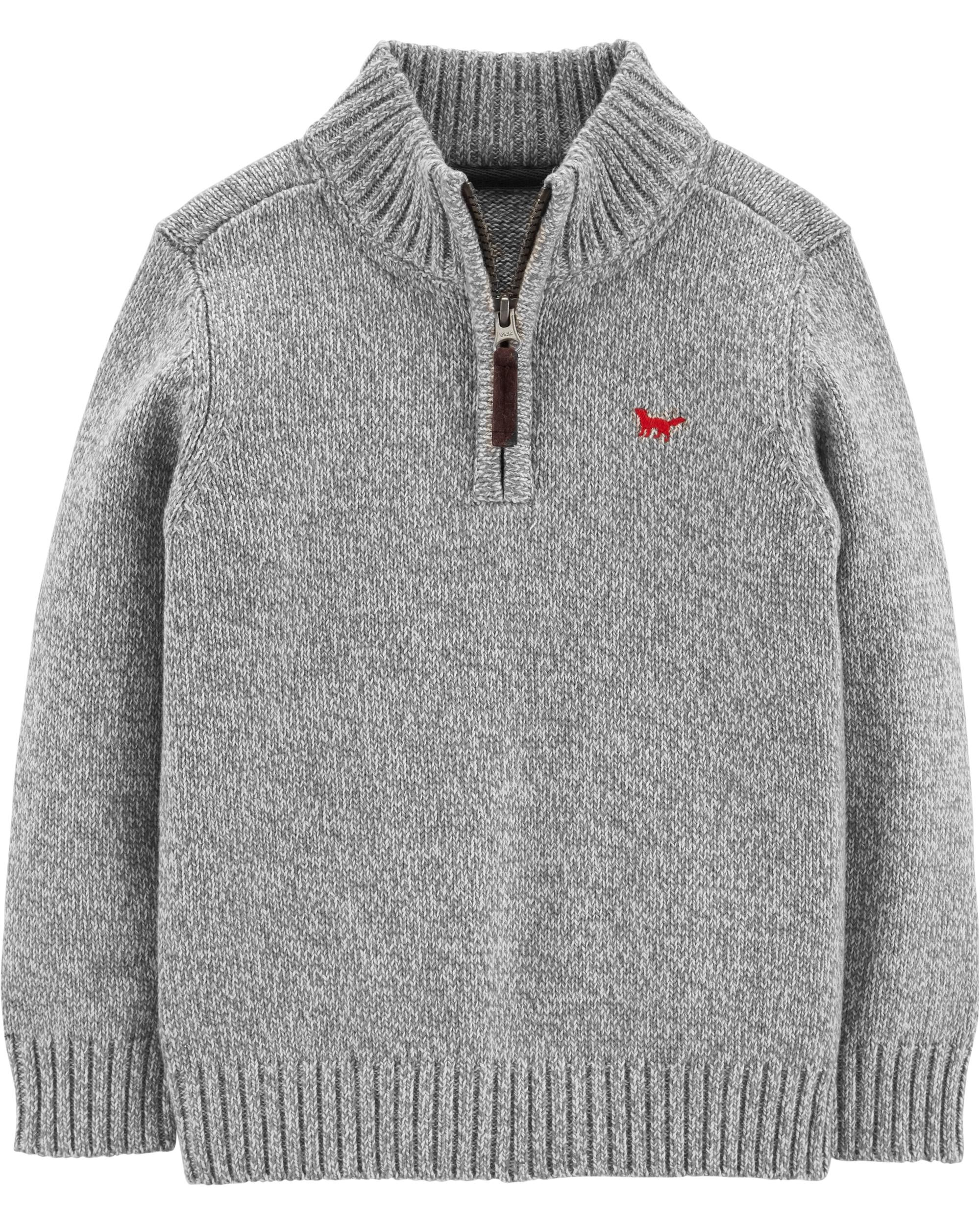 f659a3033b1d Toddler Boy Half-Zip Pullover Sweater