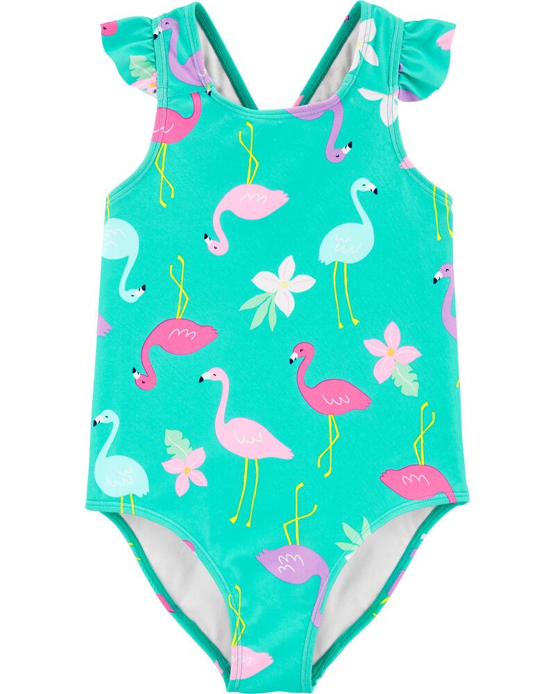 Carter/'s Infant Girls 1pc Flamingo Swimsuit Size 3//6M 6//9M