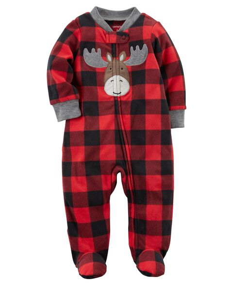 97016513e5 Moose Zip-Up Fleece Sleep   Play