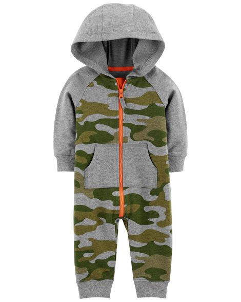 eb0c36654 Images. Camo Hooded Jumpsuit. Loading zoom