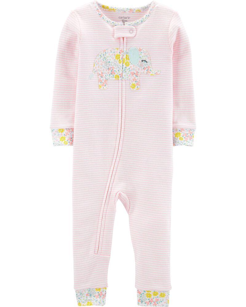 Spotted Zebra 3-Pack Snug-fit Cotton Footless Sleeper Pajamas Mixte Enfant Marque Lot de 3