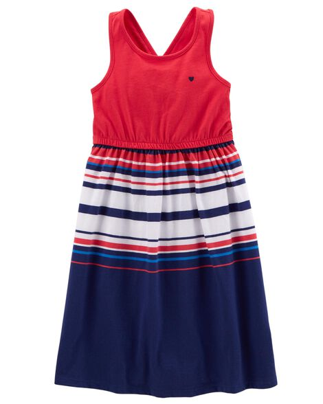 d94eac83b Fourth Of July Jersey Dress | Carters.com