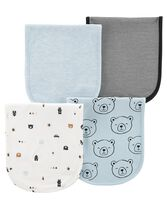 4-Pack Burp Cloths, Color, hi-res
