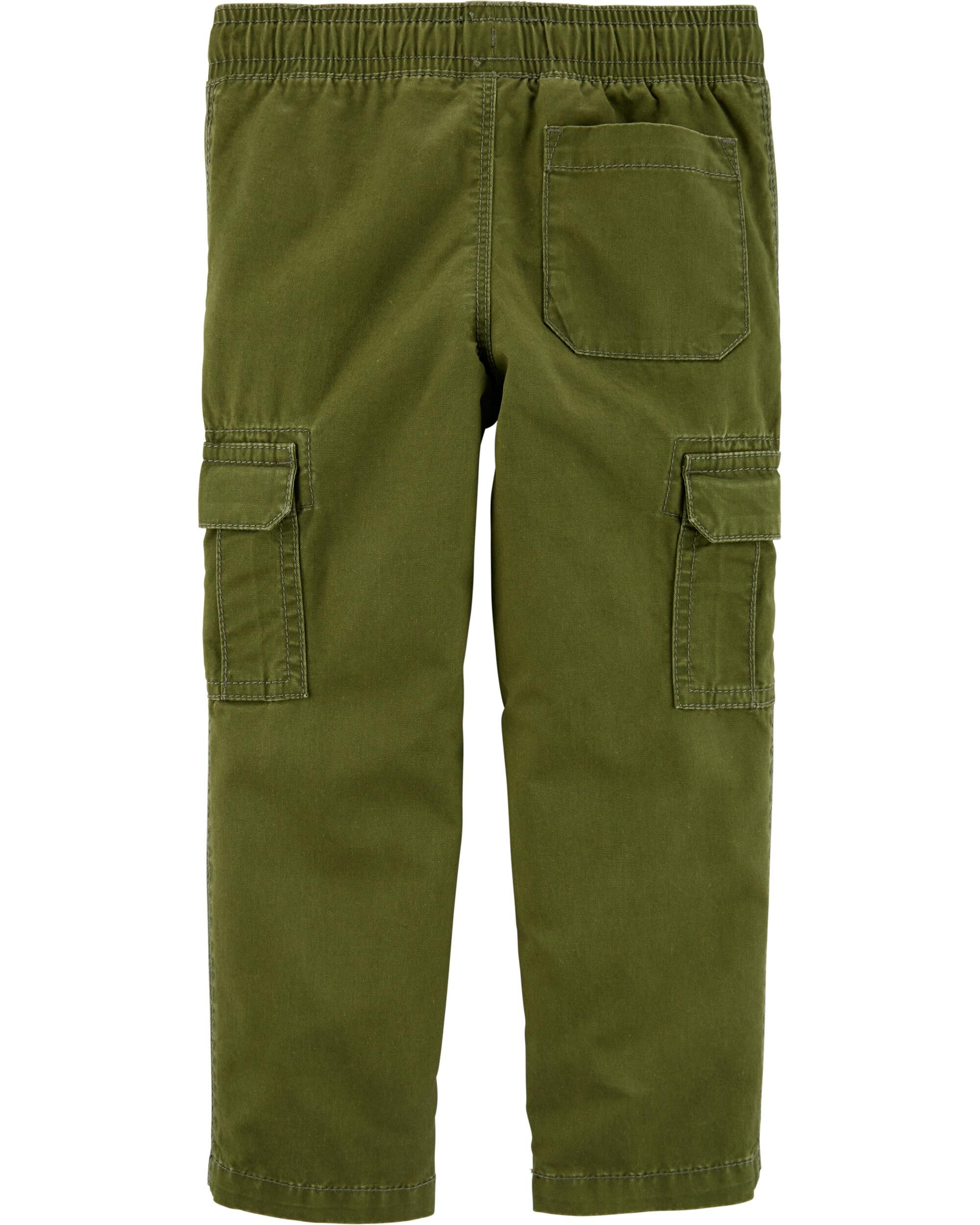 Carters Boys Green Camo Pull On Cargo Pants 6 Months