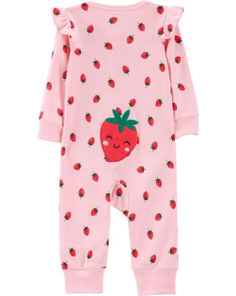 Strawberry Zip-Up Footless Sleep & Play