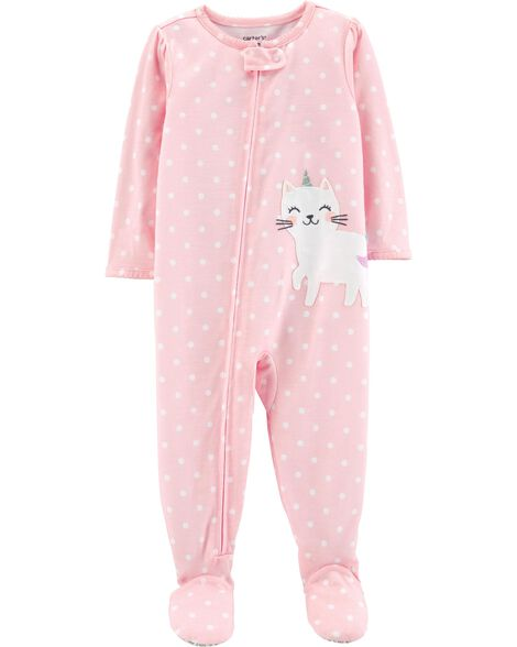 1-Piece Cat Poly PJs