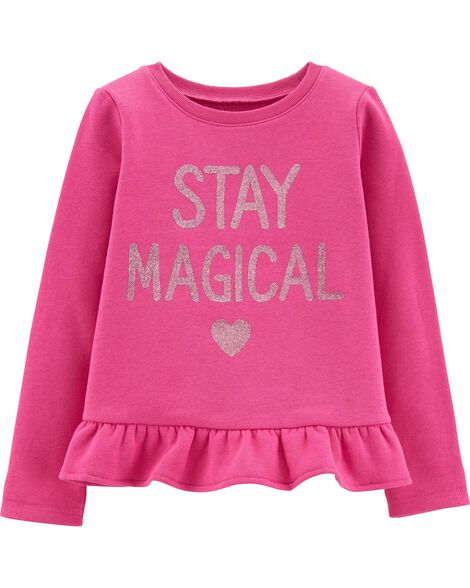 Glitter Stay Magical Fleece Top