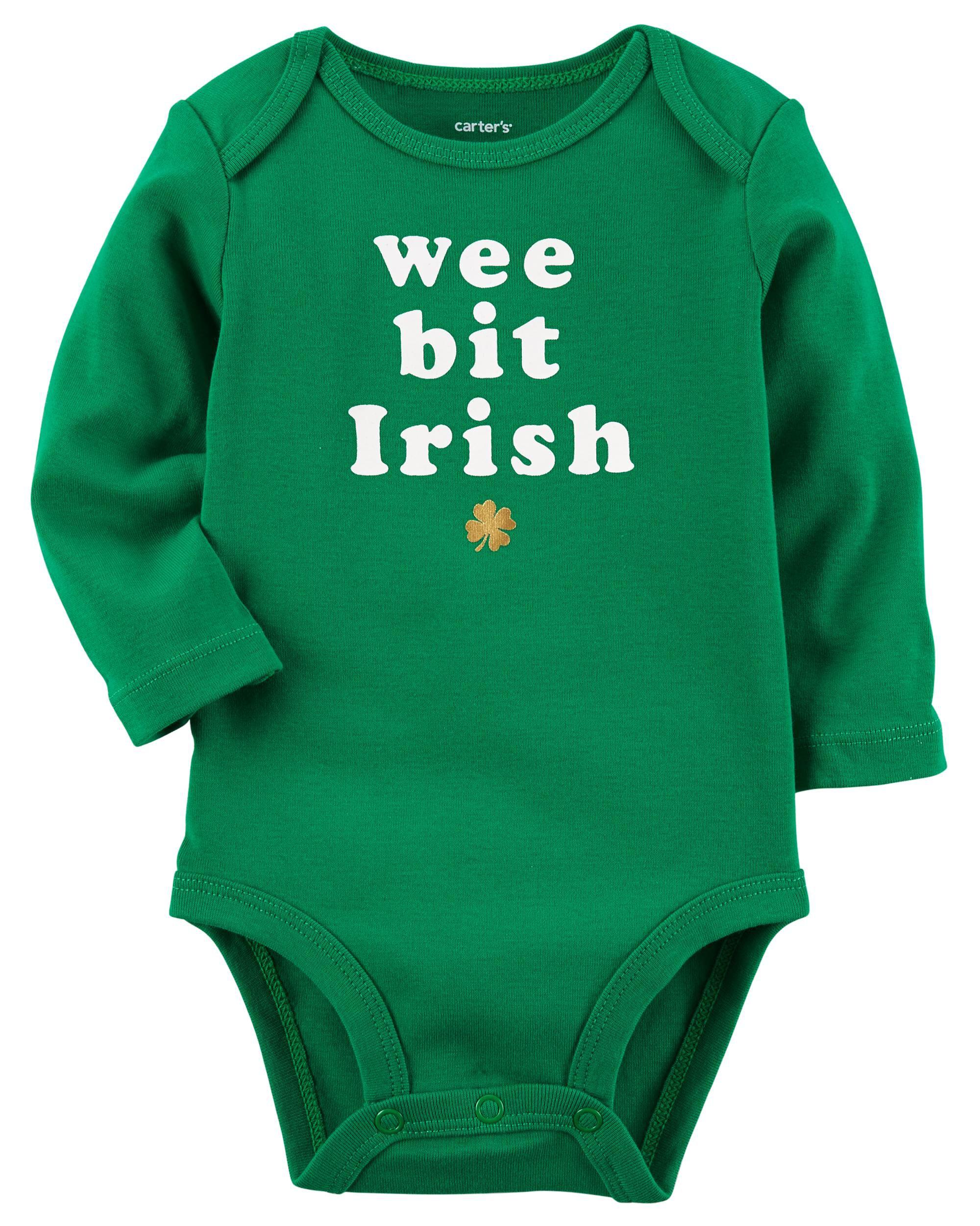 Long Sleeve St Patrick s Day Bodysuit