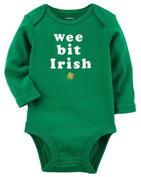 d3c2b1d9a Long-Sleeve St.Patrick's Day Bodysuit | Carters.com