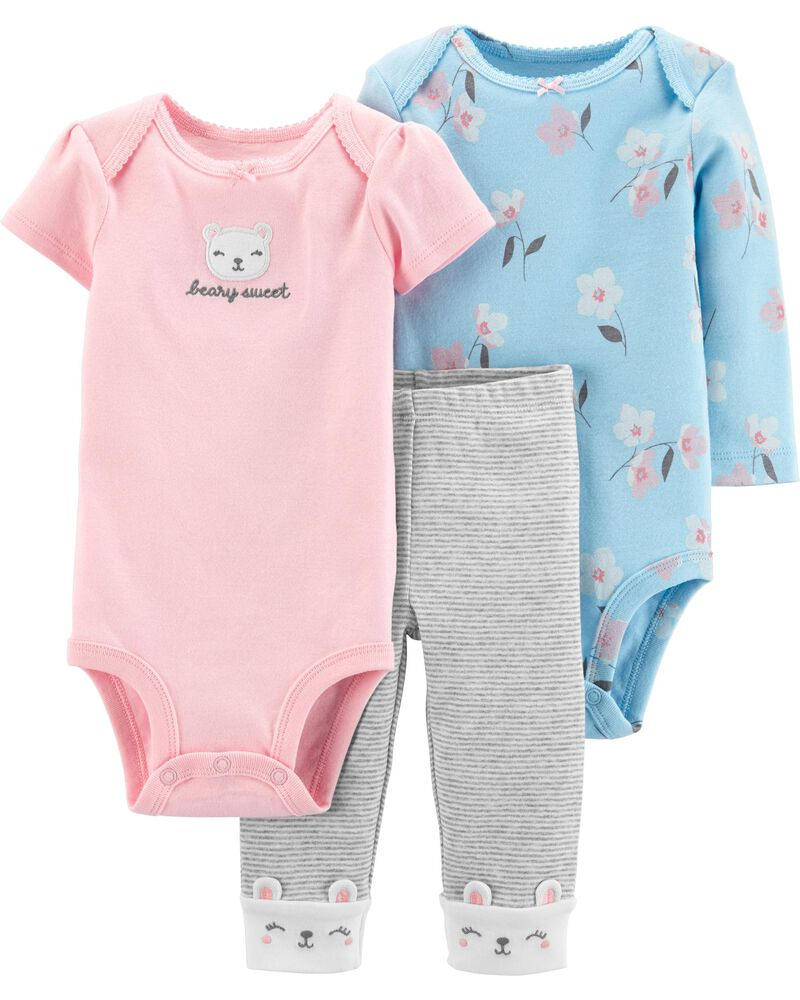 Carters 3 Piece Character Set Black Bear Wild About Mommy Preemie