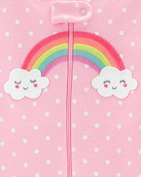 1-Piece Rainbow Snug Fit Cotton Sleep Romper