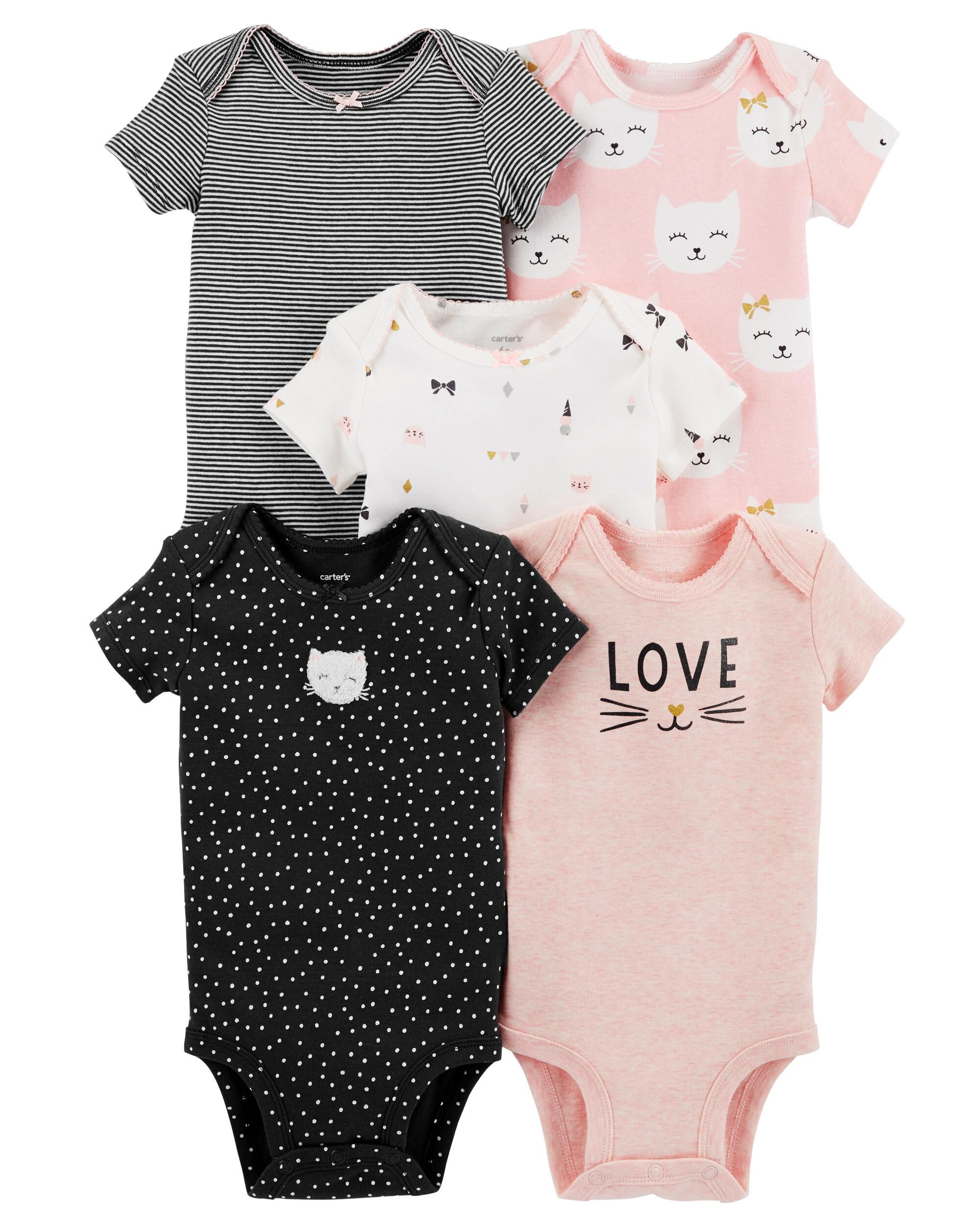 df899861d 5-Pack Kitty Original Bodysuits | Carters.com