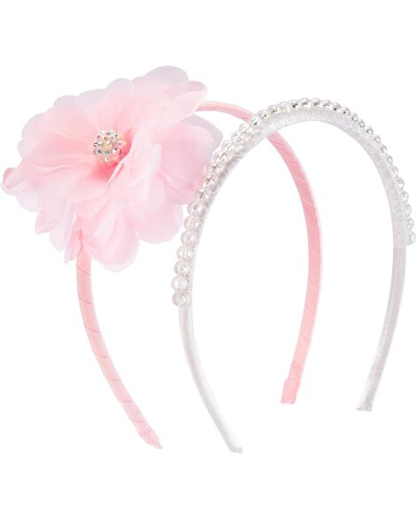 2-Pack Plume Pearl Headbands