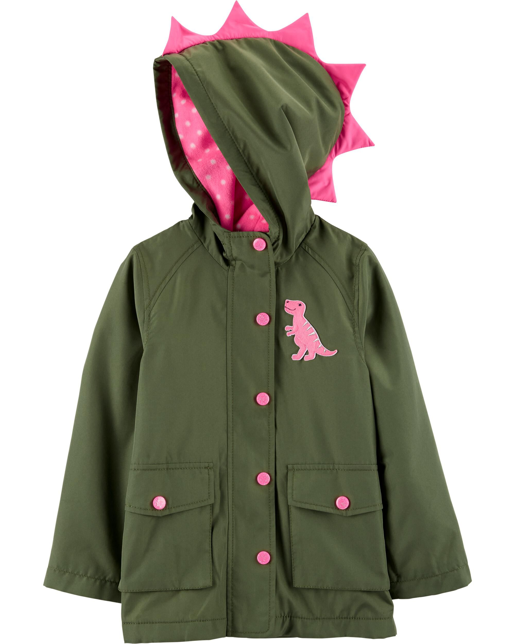 *CLEARANCE* Dinosaur Fleece-Lined Water Resistant Jacket