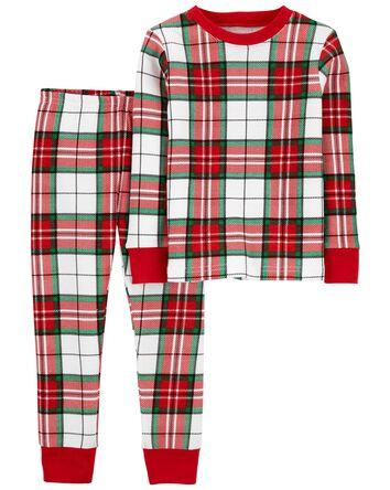 2-Piece Plaid 100% Snug Fit Cotton...