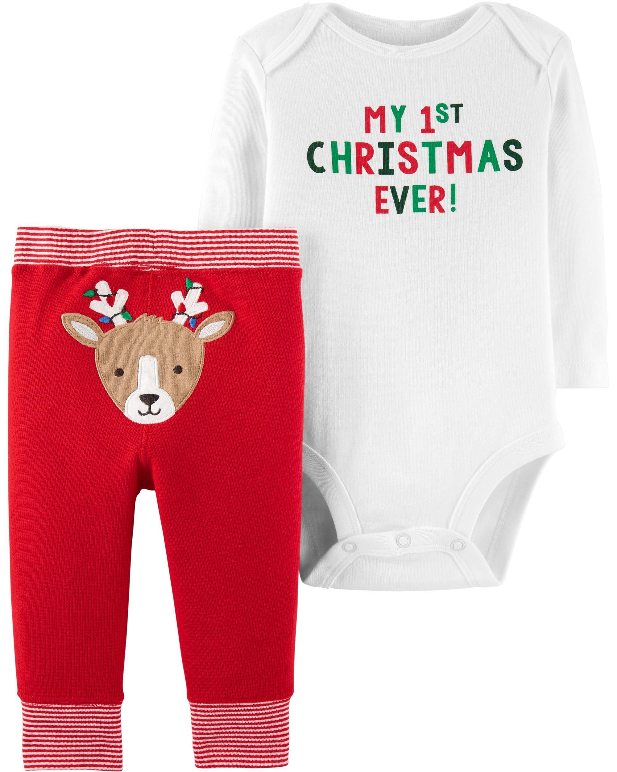 Baby Neutral 2-Piece Christmas Bodysuit Pant Set   Carters.com