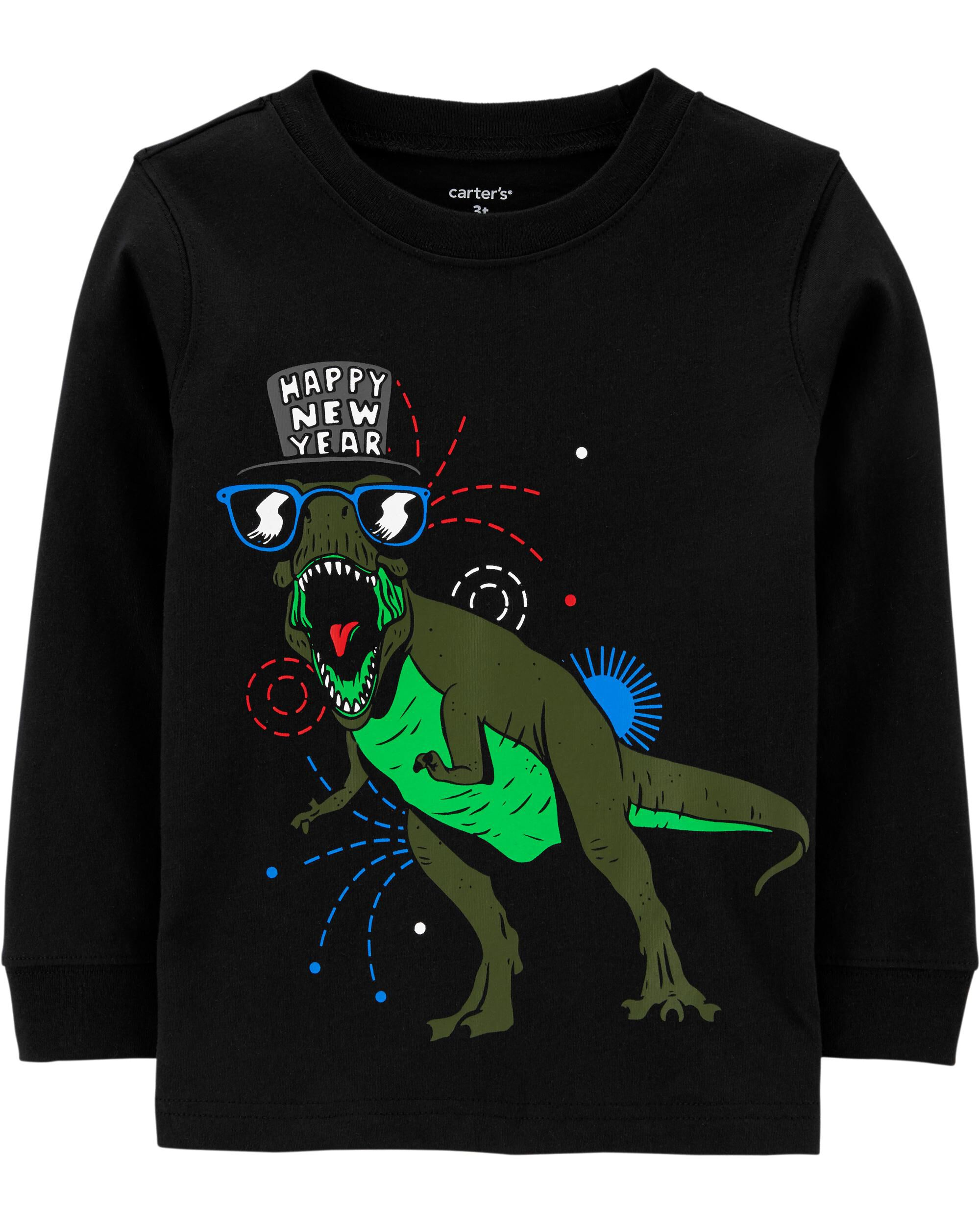 *DOORBUSTER* Dinosaur New Years Jersey Tee