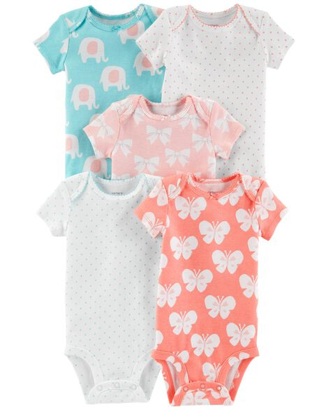 28be5208b 5-Pack Elephant Original Bodysuits