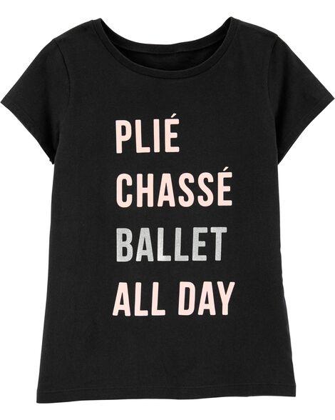 Glitter Ballet Jersey Tee
