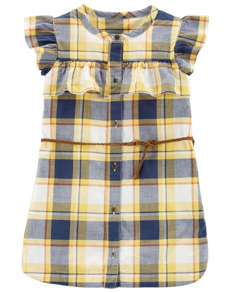7ec1cbbfe Plaid Ruffle Belted Dress
