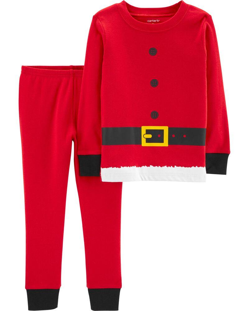 A/&J Design Baby Boys Infant Santa Claus Christmas Pajamas 2 Piece Set