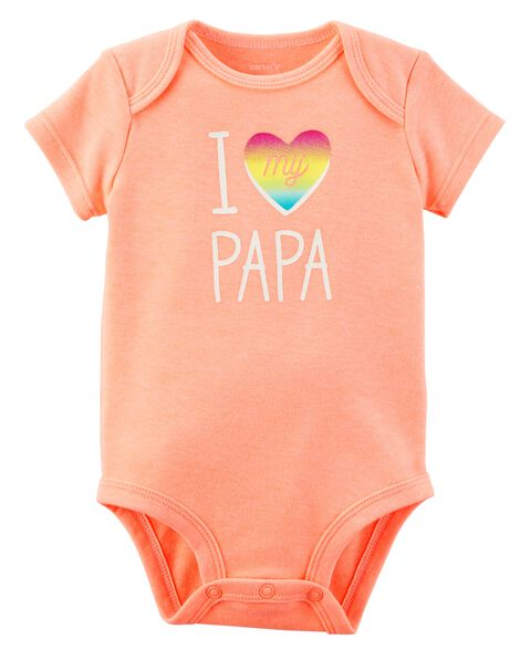 8da35be94 Neon I Love My Papa Collectible Bodysuit
