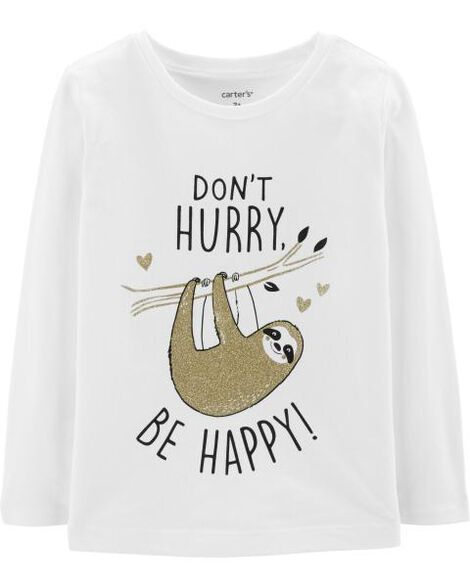 677e45ea2f599 Be Happy Sloth Tee | Carters.com
