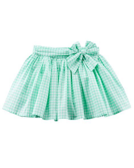 9e6ca370b2 Gingham Poplin Skirt | Carters.com