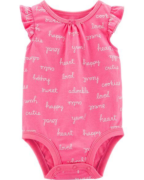 Happy Flutter-Sleeve Bodysuit