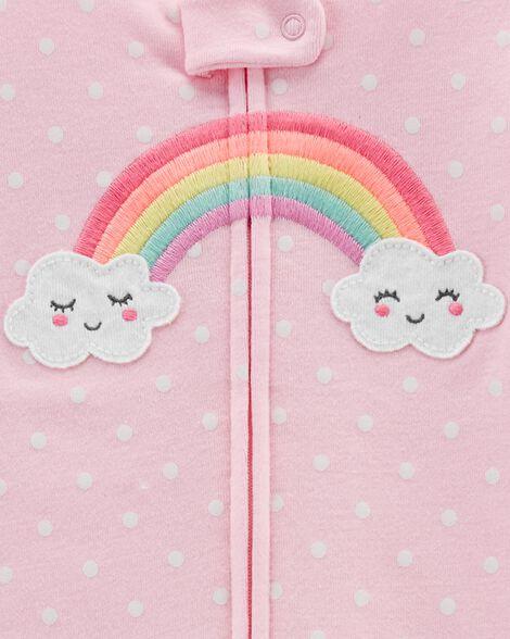 1-Piece Rainbow Snug Fit Cotton Footless PJs