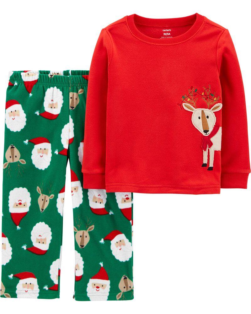 NWT Carter/'s 2T 3T 4T 5T 1 Piece Red Reindeer Christmas Fleece PJs Pajamas